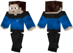 Blue Star Trek Uniform Skin