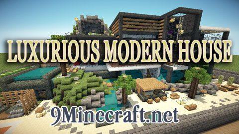 Luxurious Modern House Map 1 12 2 1 11 2 For Minecraft 9minecraft Net