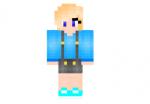 Blue Girl Skin
