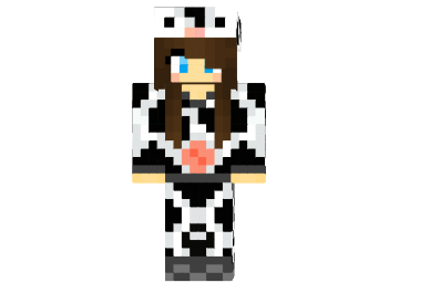 Cow Suit Girl Skin | Minecraft Skins | Minecraft 1.8.4, 1 ...