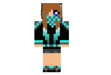 Cool Girl With Creeper Back Skin 9minecraft Net
