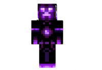 Creeper-neon-purple-skin