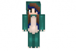 Blue Dino Girl Skin