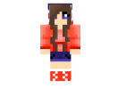 Cute Red Hoodie Girl Skin