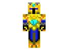 Golden Blue Knight Skin