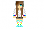 Hot Rainbow Girl Skin