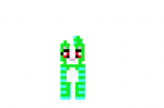 Evil-green-and-blue-cat-skin