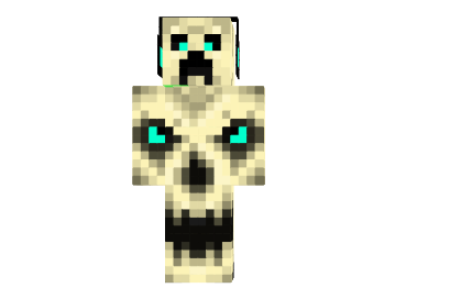 Light Blue Scary Creeper Skin 9minecraft Net
