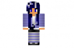 Striped Blue Girl Skin