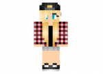 Plaid Blonde Girl Skin