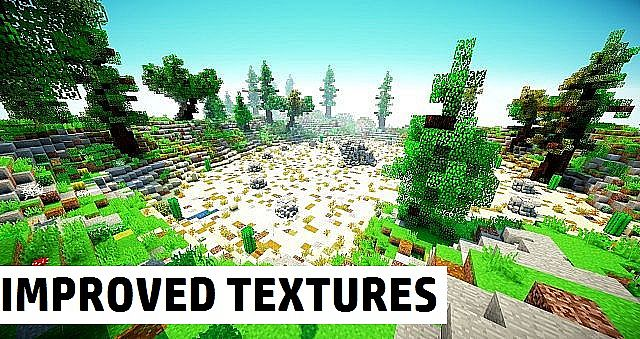 Improved Default Textures Resource Pack 9minecraft Net