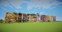 Minecraft-letter-frame-houses-map