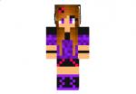 Glitter Purple Girl Skin