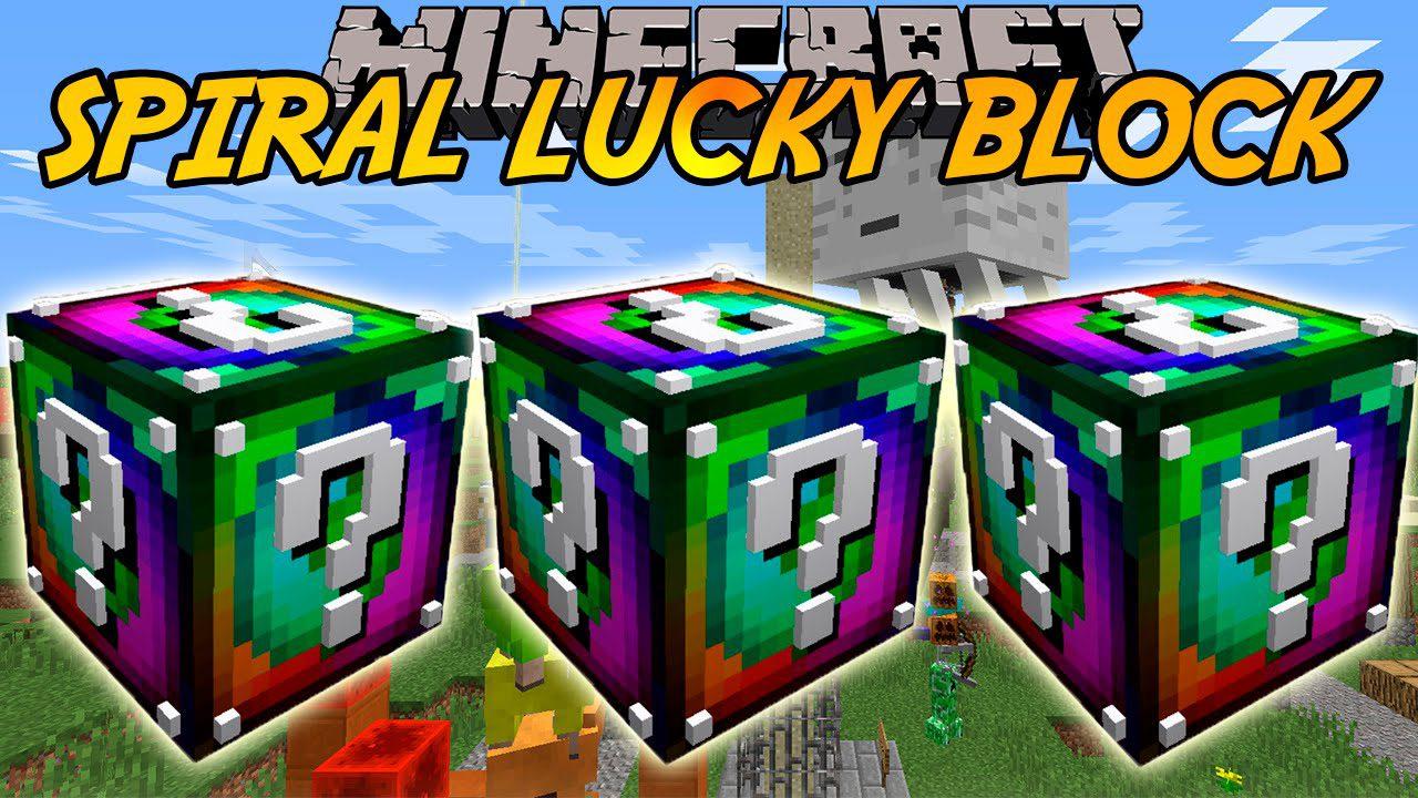 Lucky block spiral mod 1. 8. 9 9minecraft. Net.