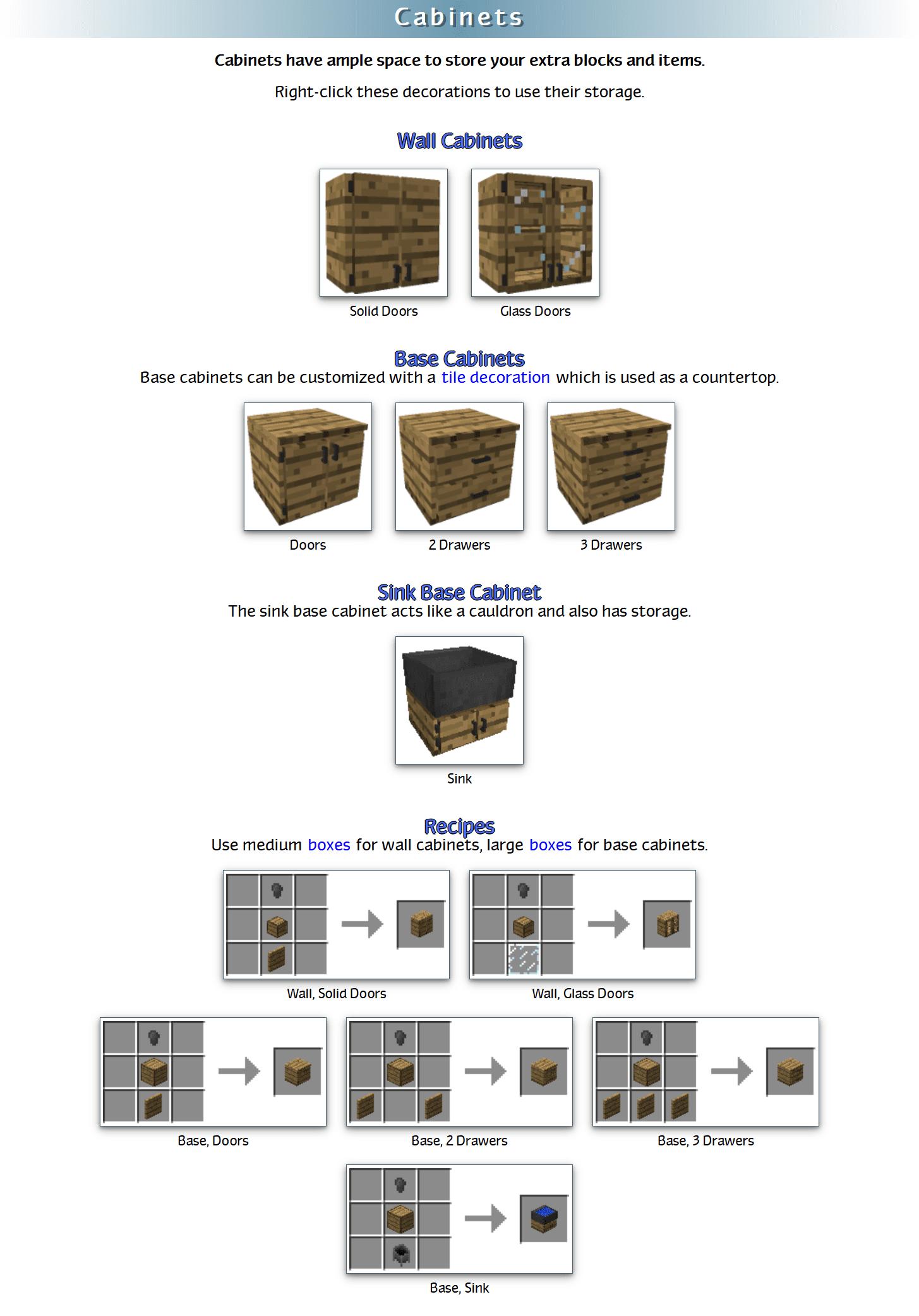Decoration Mega Pack Mod Crafting Recipes 15