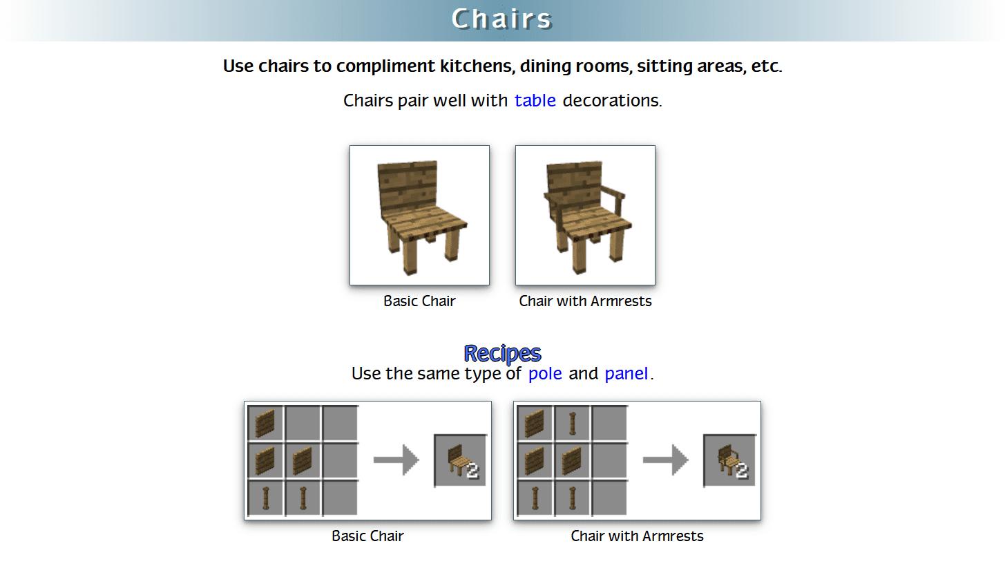 Decoration Mega Pack Mod Crafting Recipes 19