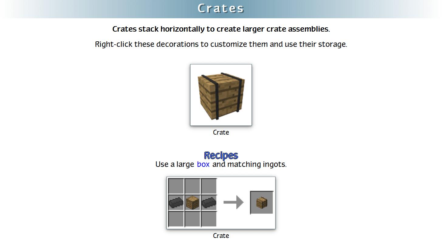 Decoration Mega Pack Mod Crafting Recipes 23