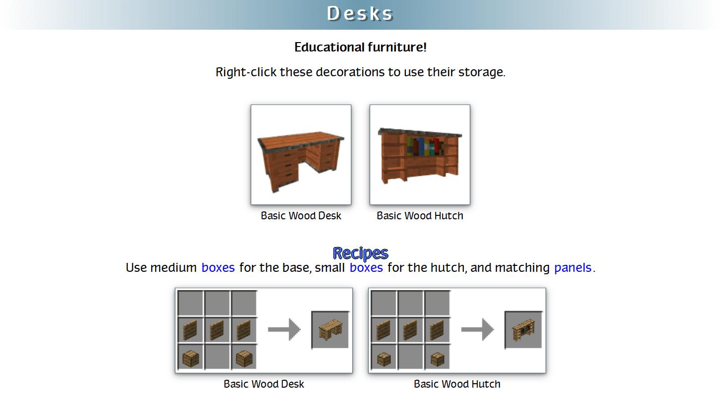 Decoration Mega Pack Mod Crafting Recipes 26