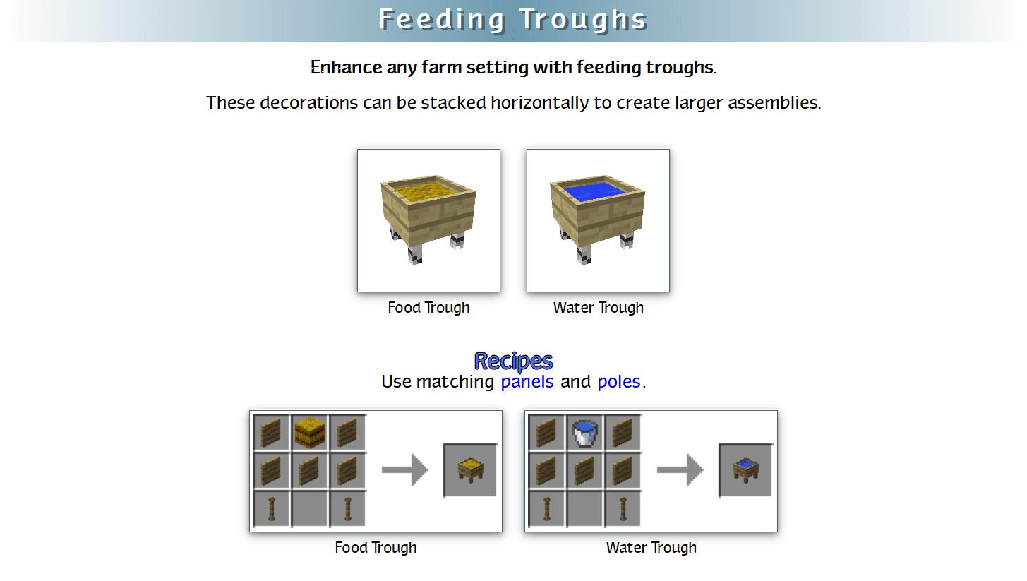 Decoration Mega Pack Mod Crafting Recipes 27