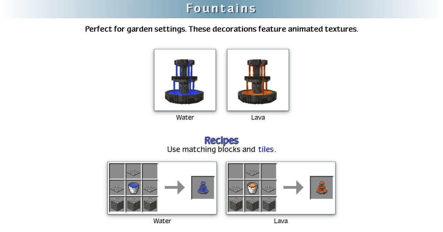 Decoration Mega Pack Mod Crafting Recipes 29