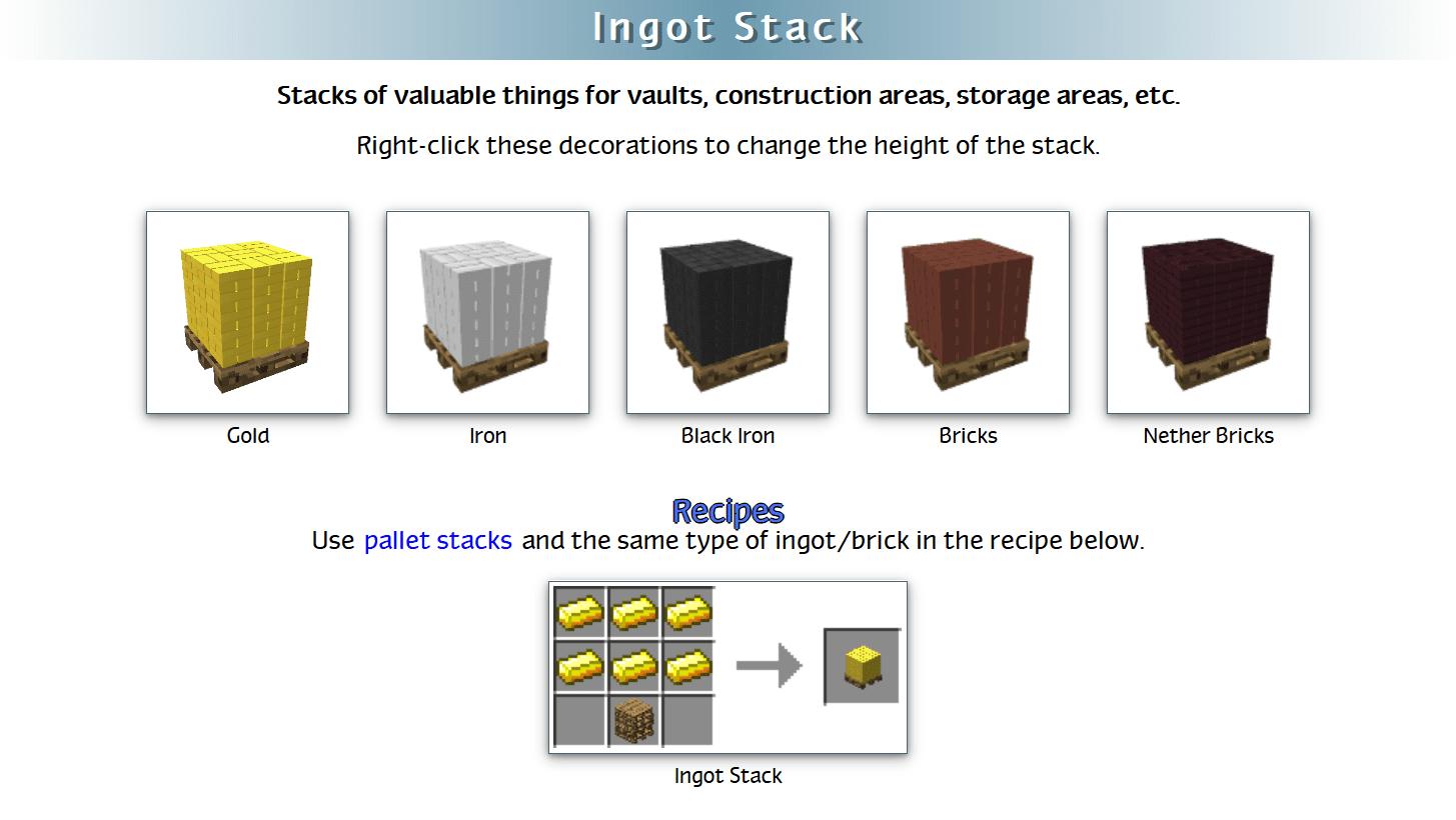 Decoration Mega Pack Mod Crafting Recipes 32
