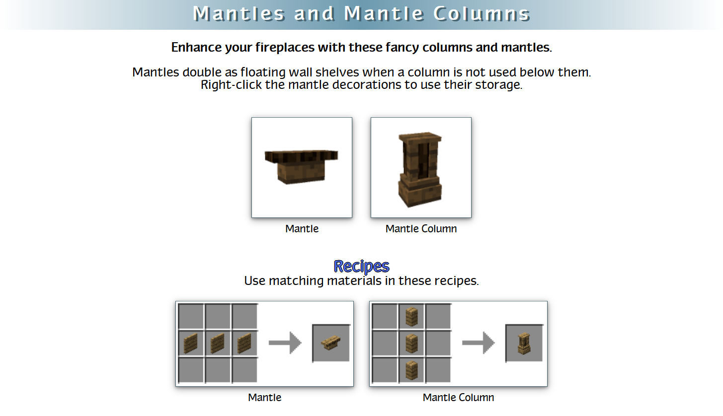 Decoration Mega Pack Mod Crafting Recipes 36