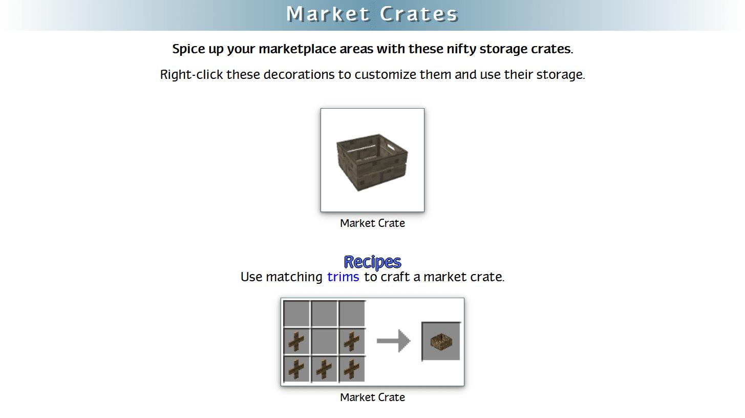 Decoration Mega Pack Mod Crafting Recipes 37