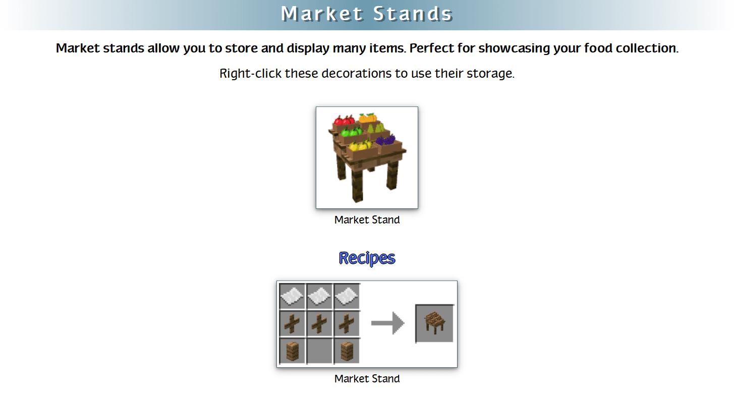 Decoration Mega Pack Mod Crafting Recipes 38