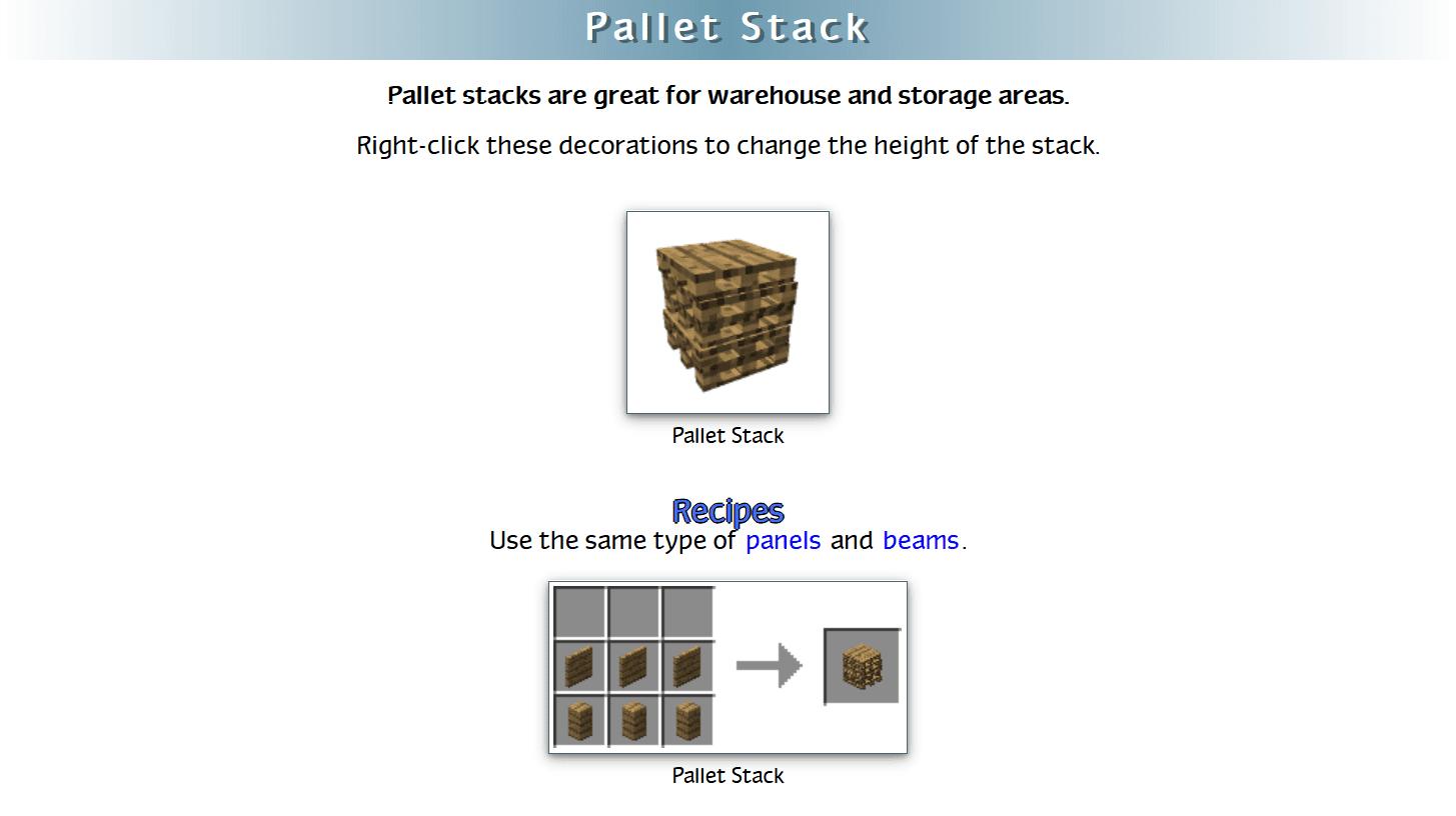 Decoration Mega Pack Mod Crafting Recipes 39