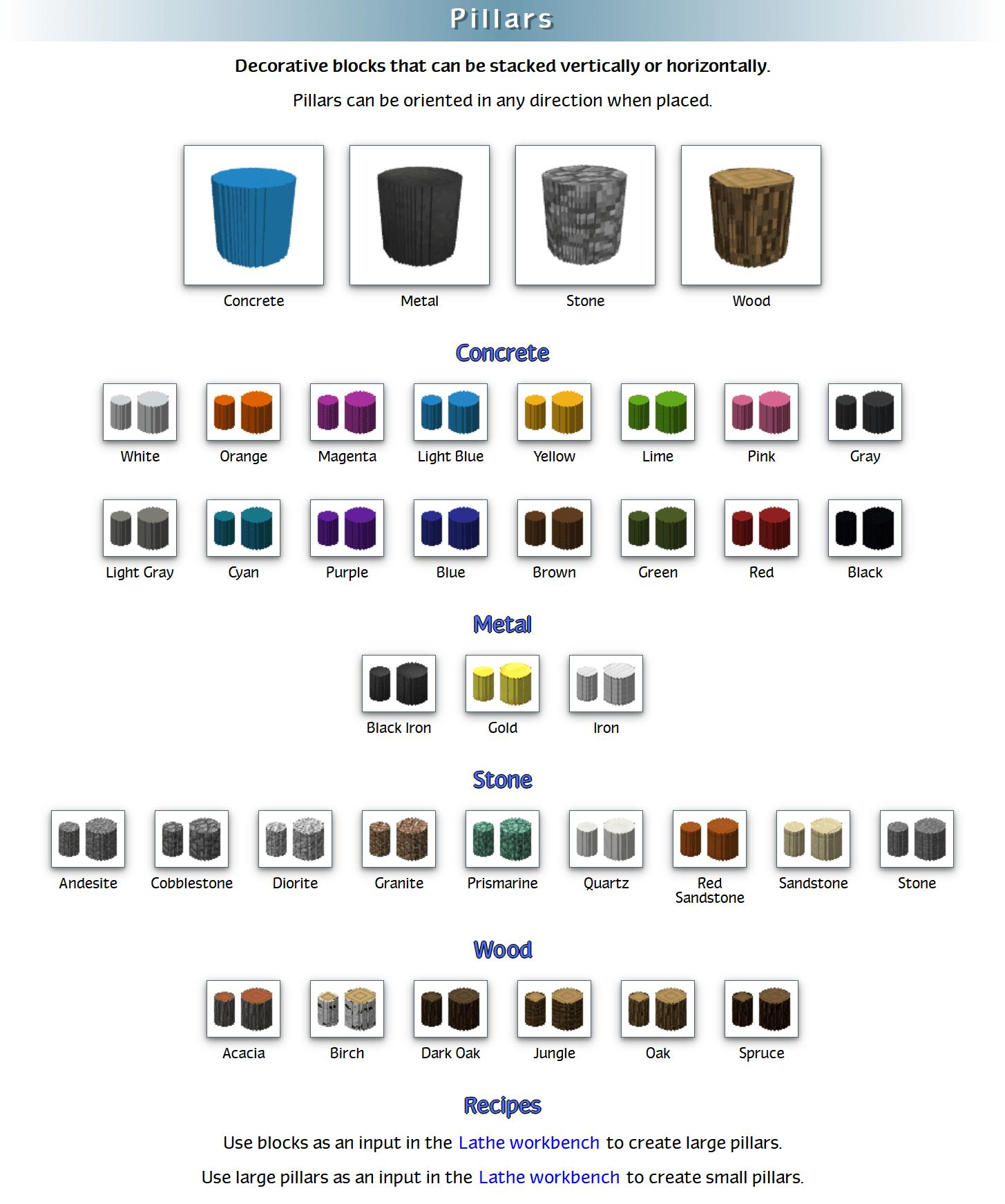 Decoration Mega Pack Mod Crafting Recipes 4