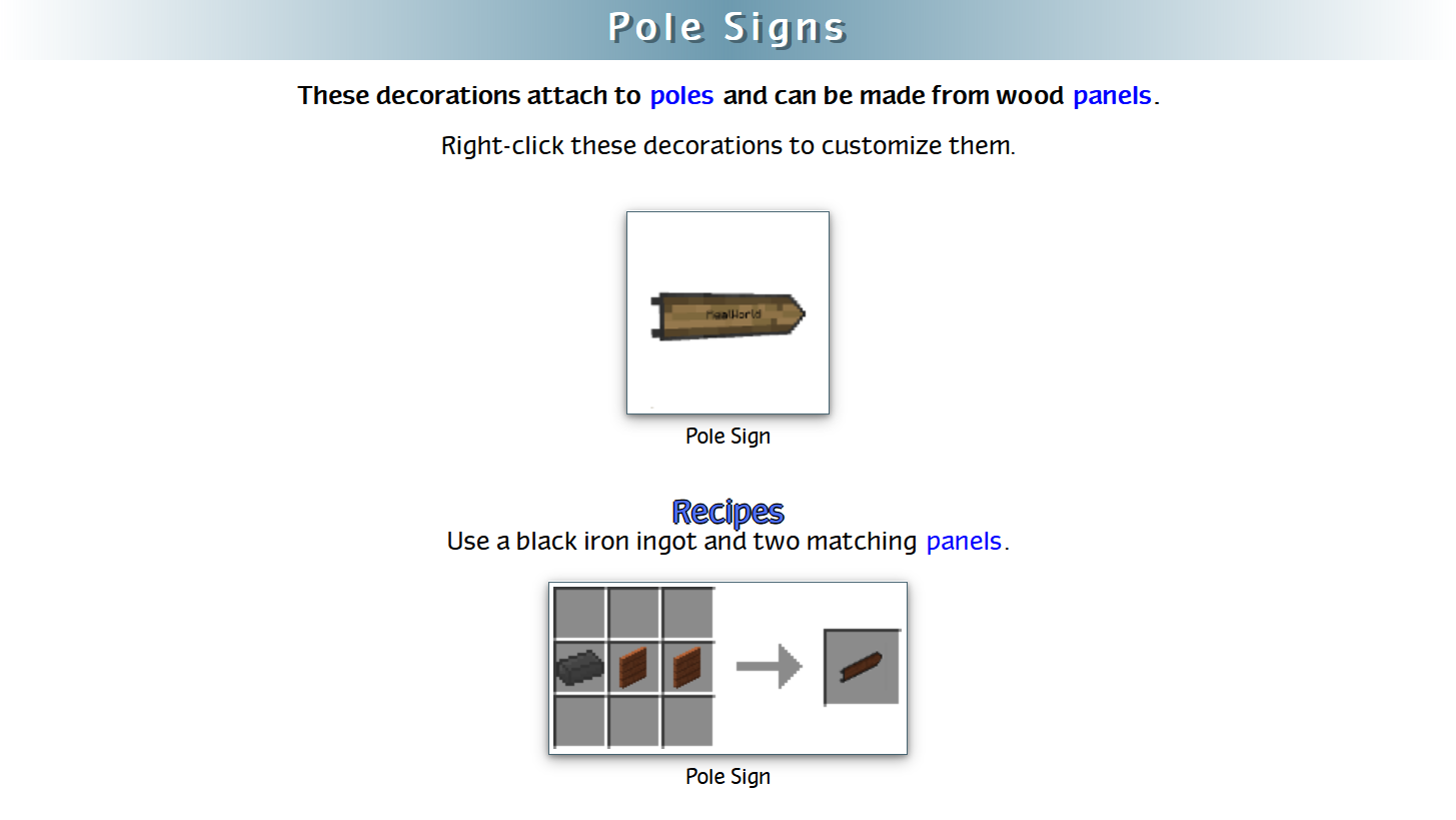 Decoration Mega Pack Mod Crafting Recipes 42