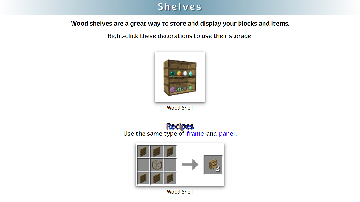 Decoration Mega Pack Mod Crafting Recipes 43