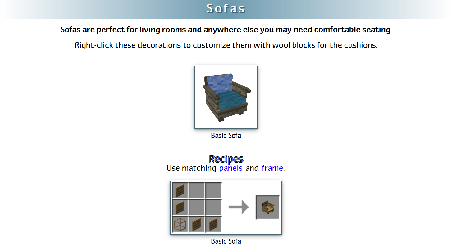 Decoration Mega Pack Mod Crafting Recipes 45