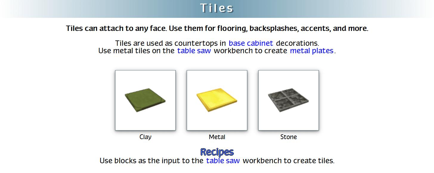 Decoration Mega Pack Mod Crafting Recipes 48