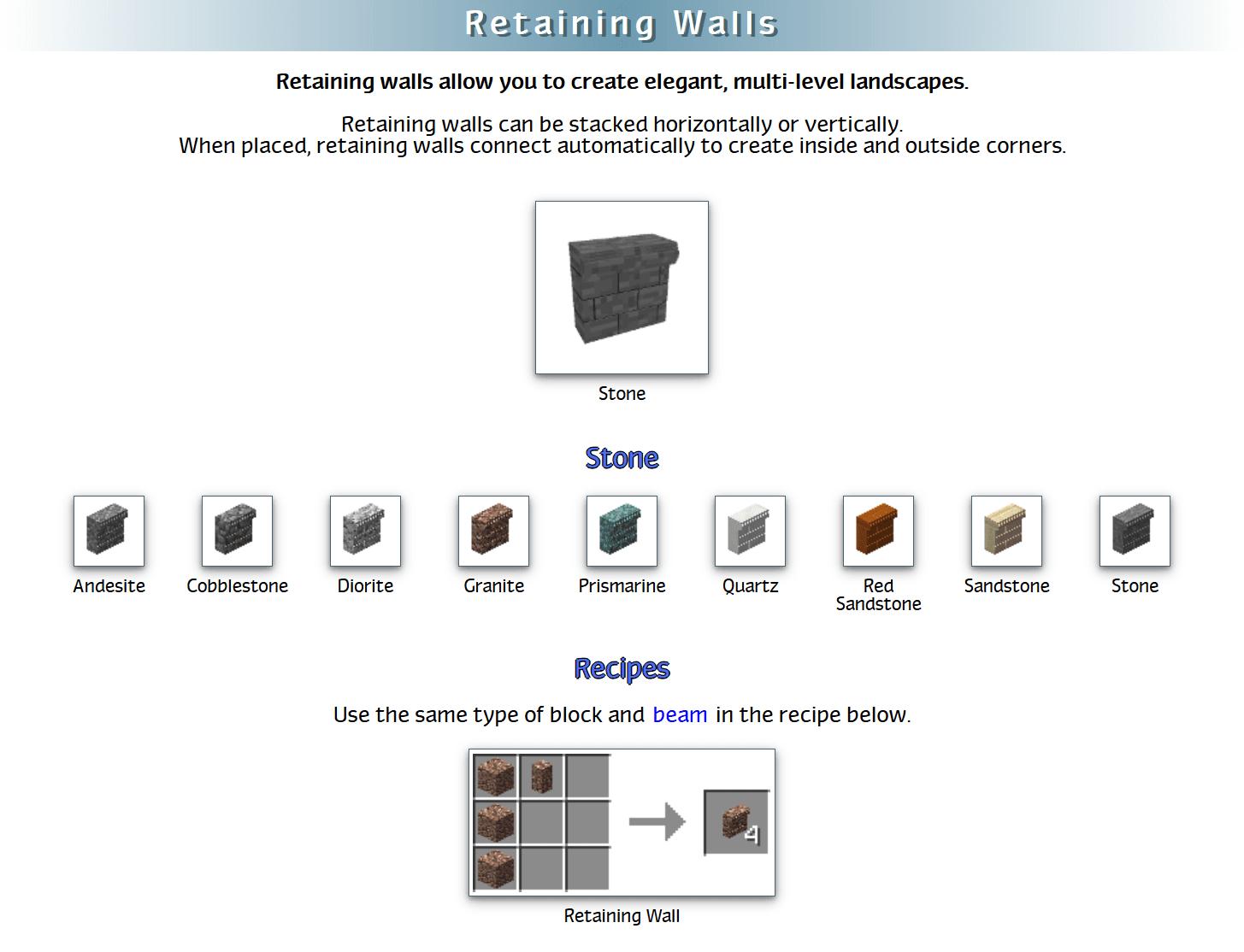 Decoration Mega Pack Mod Crafting Recipes 5