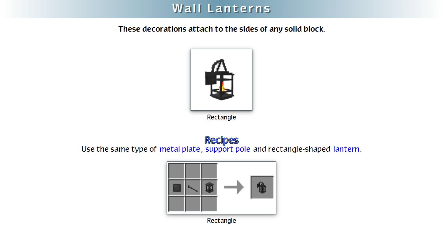 Decoration Mega Pack Mod Crafting Recipes 51