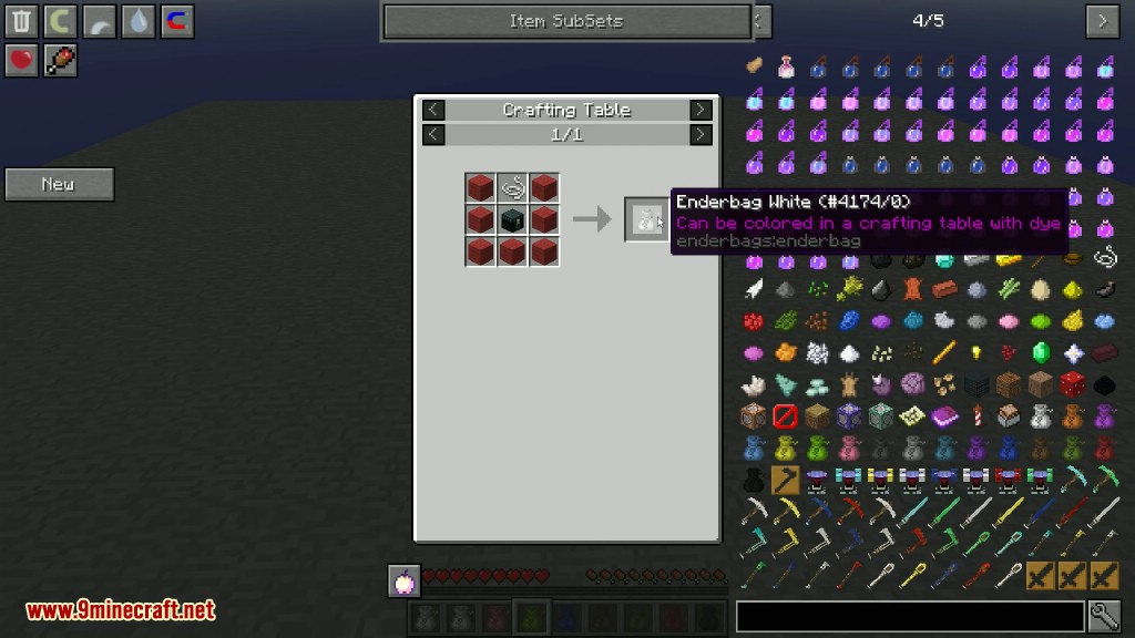 EnderBags Mod Crafting Recipes 1