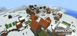 savannah-village-in-a-snow-biome-seed-for-mcpe-2