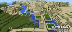 three-temples-one-village-at-spawn-seed-for-mcpe-1