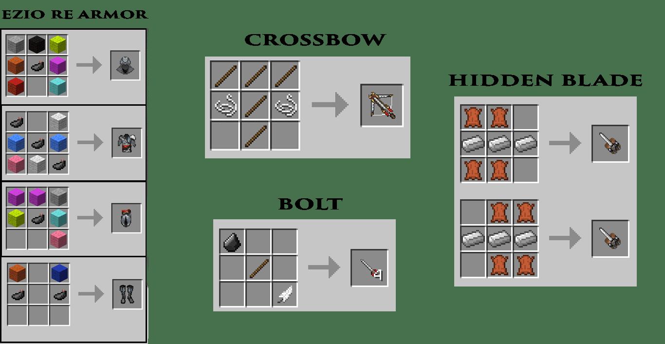 Craft List Minecraft 1 10 | Crafting