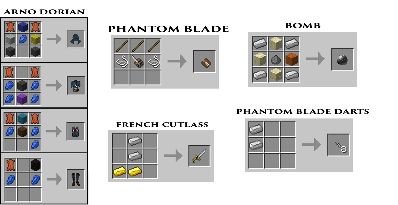 MineCreed Mod Crafting Recipes 5