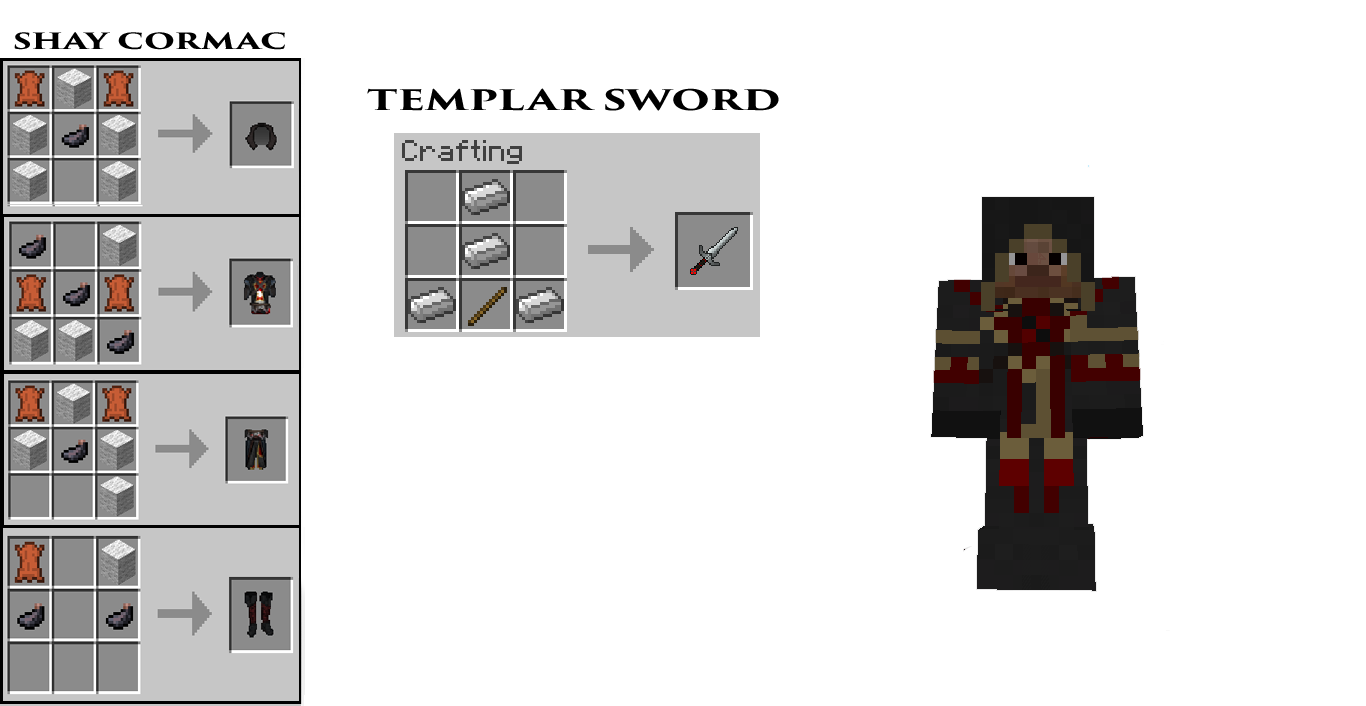 MineCreed Mod Crafting Recipes 6