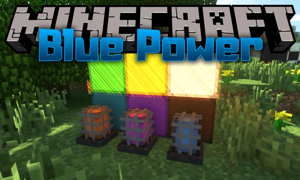 Blue Power mod for minecraft logo