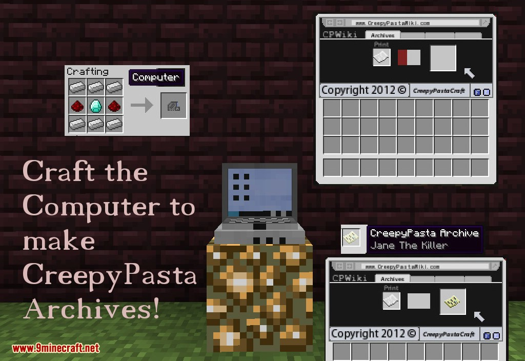 CreepyPastaCraft Revived Mod How to use 2