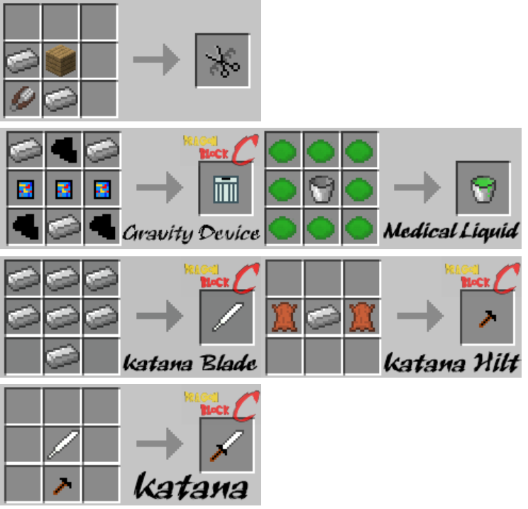 Dragon Block C Mod Crafting Recipes 1