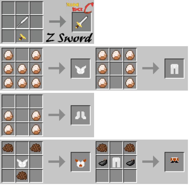Dragon Block C Mod Crafting Recipes 3