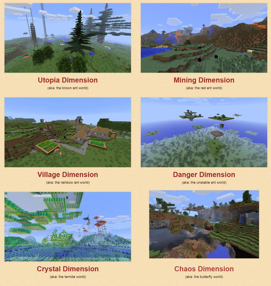 OreSpawn Mod Dimensions