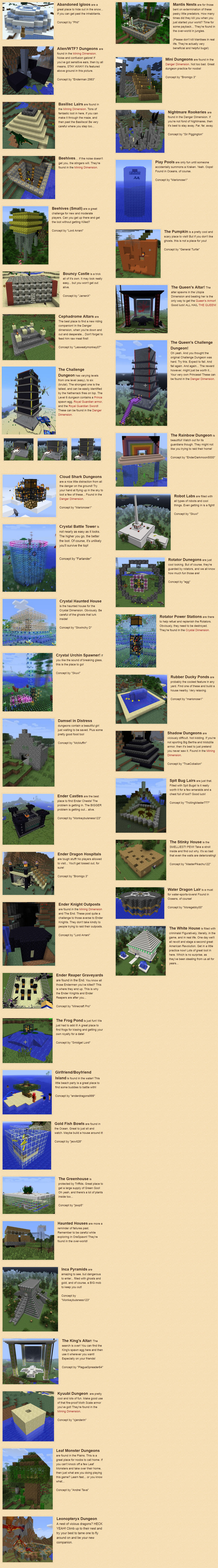 OreSpawn Mod Dungeons