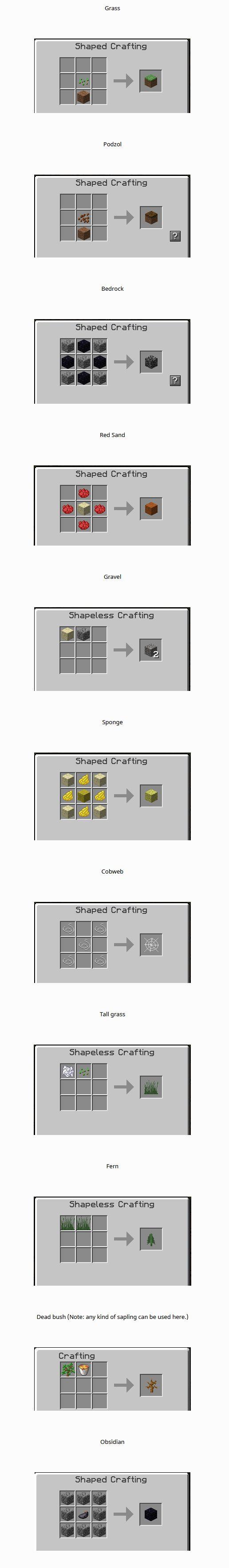 Recipes Plus Mod Crafting Recipes 1