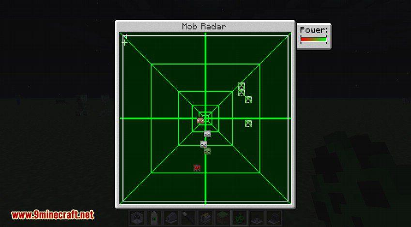 RotaryCraft Mod Mob Radar GUI